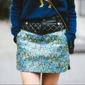 NWT Coach 1941 Quilted Leather Floral Skirt